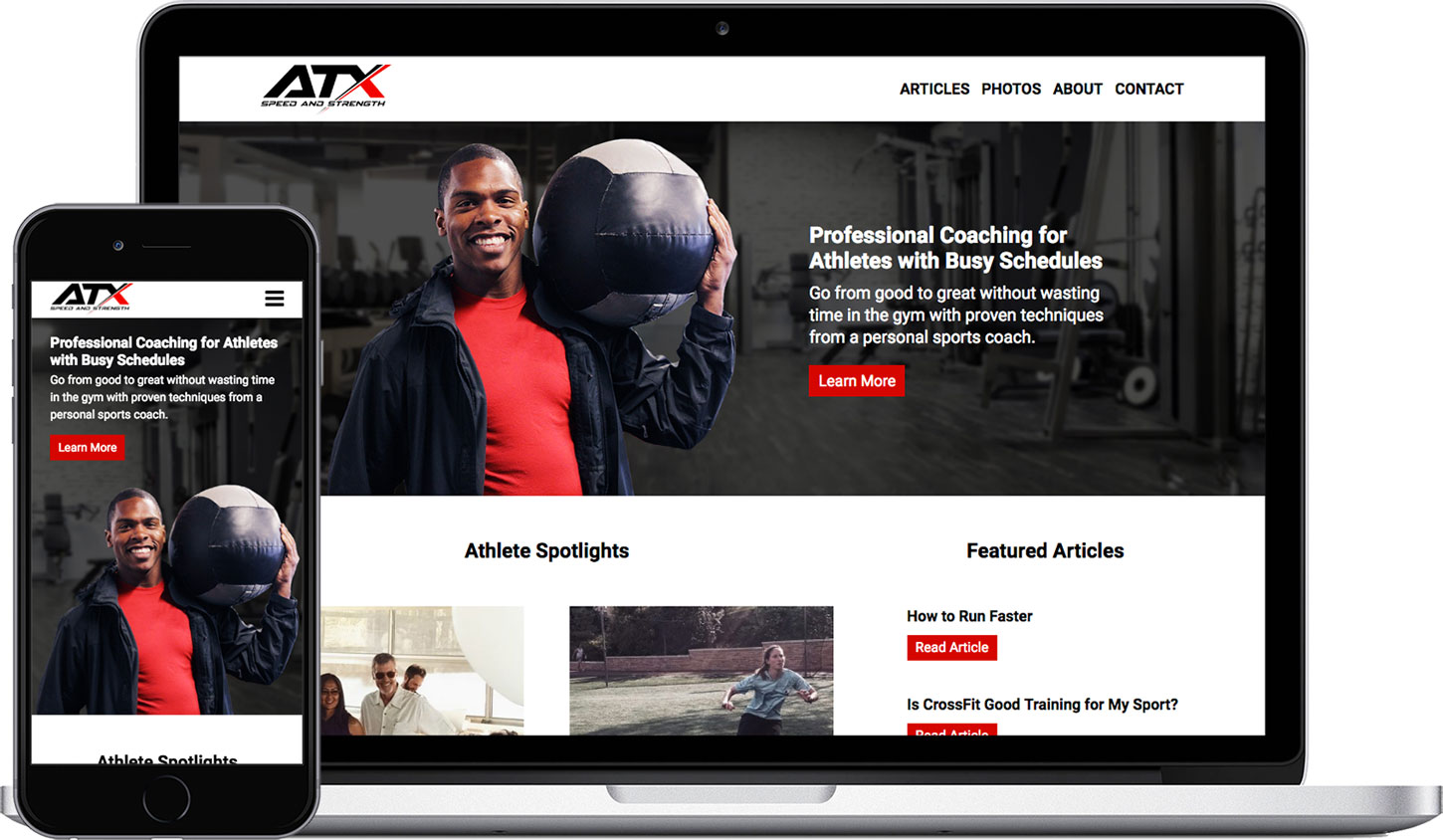 Website Sample 1: ATX Speed and Strength
