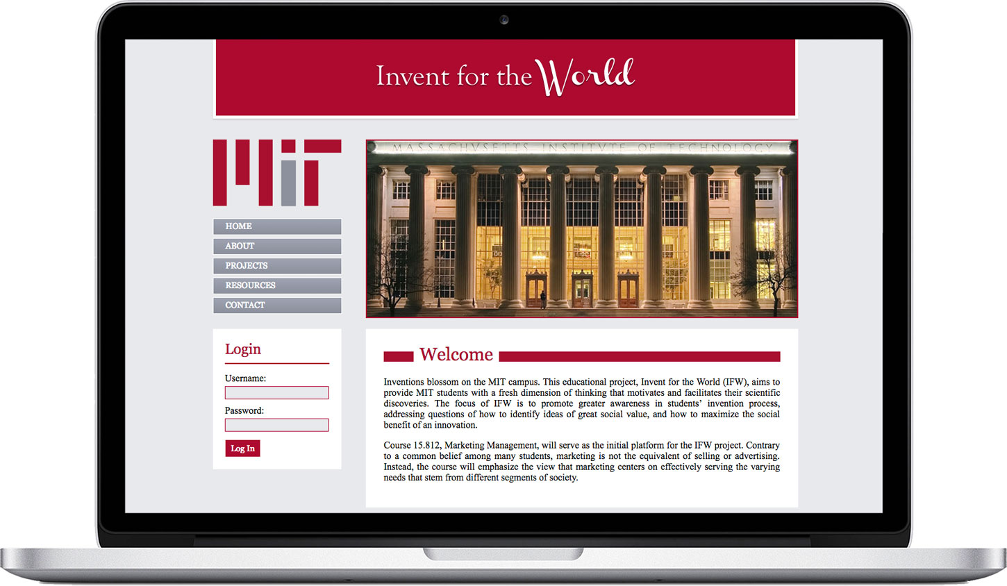 Website Sample 2: MIT Invent for the World